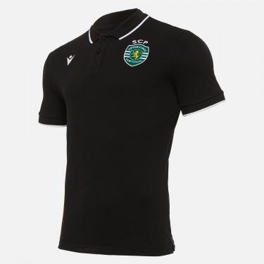 Sporting clube de portugal 2020/21 piquet cotton coaching staff polo shirt