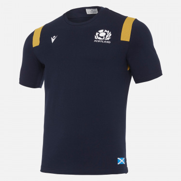 Scotland rugby 2020/21 adults' travel polycotton t-shirt