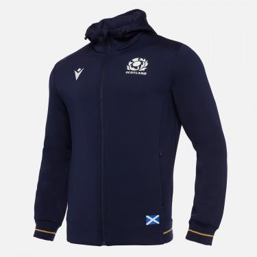 Sweatshirt gratté avec fermeture éclair intégrale adulte scotland rugby 2020/21