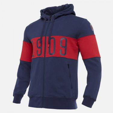 Bologna fc 2020/21 full zip cotton sweatshirt